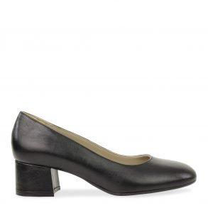 klassieke dames pump in zwart nappa leder