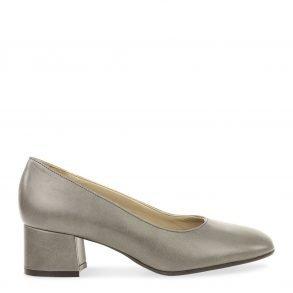 klassieke dames pump in grijs nappa