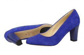 kobaltblauwe pump