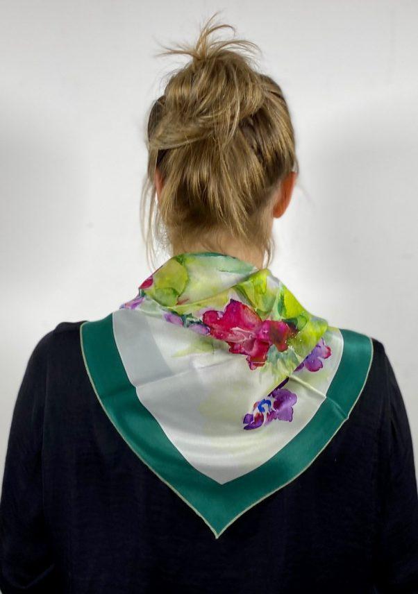 zijden sjaal flowerbomb