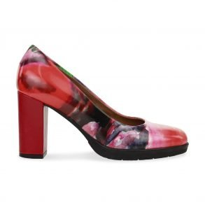 Anna pump multi color leder