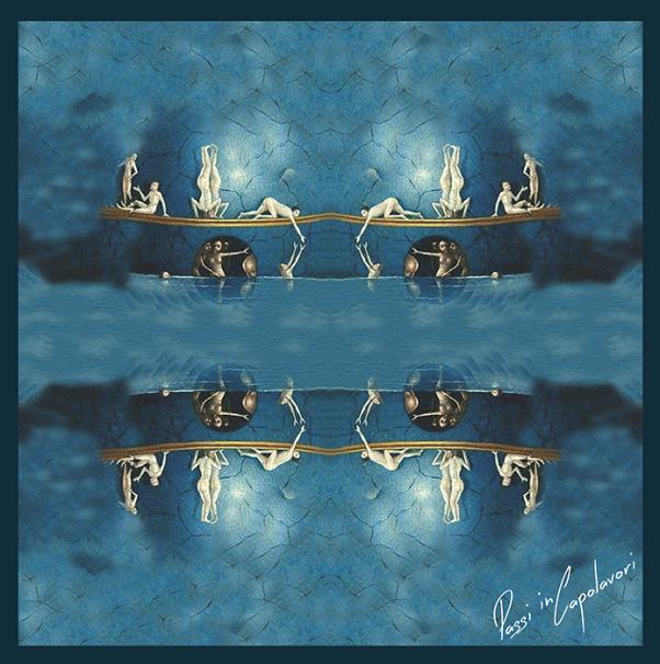 zijden sjaal blauw Jheronimus Bosch
